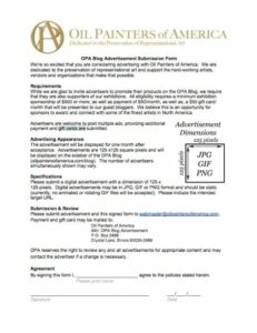 OPA Blog Advertisement Submission Form