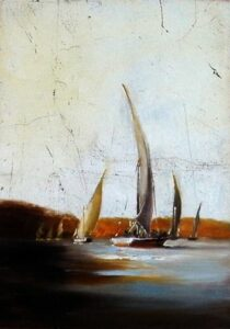 """Feluccas on the Nile"" by Margret Short OPA"