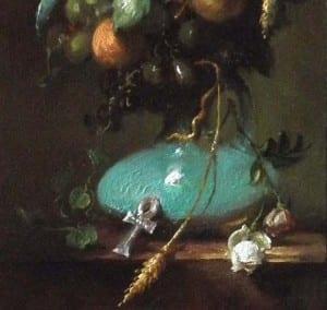 """""""Nefertitis Garland"""" Margret Short OPA (detail - Egyptian green frit)"""