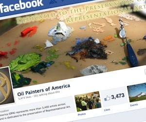 Paints, Brushes and Facebook Supports