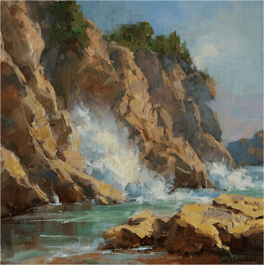 """Coastal Concert"" 16x16 by Bill Davidson OPA"