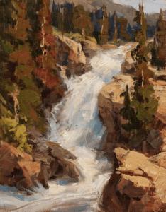 """""""Alberta Falls"""" 10x8 by Bill Davidson OPA"""