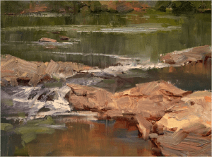 """""""Moving Waters"""" by Bill Davidson OPA"""