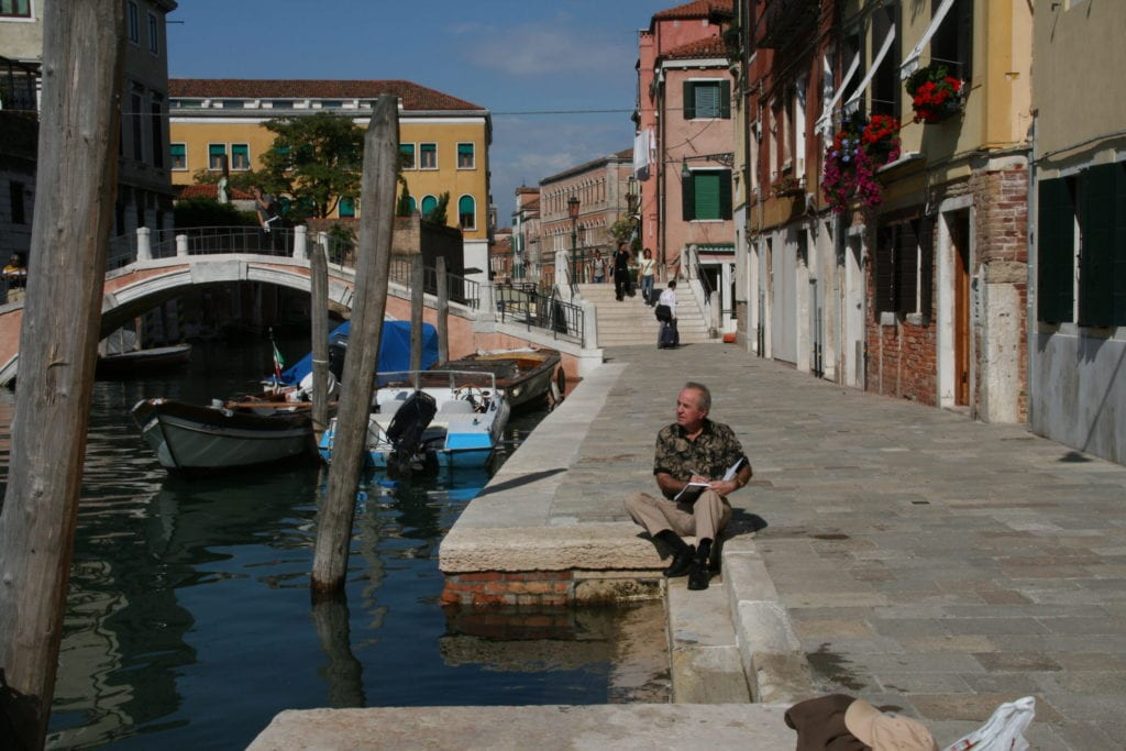 Charles Cox OPA Sketching in Venice