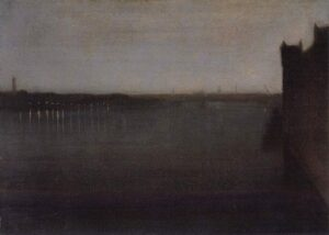 """James Abbot McNeill Whistler - """"Nocturne in Gray and Gold, Westminster Bridge"""""""