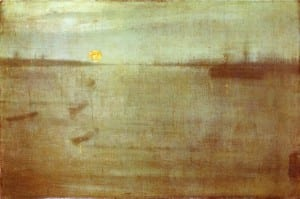 """James Abbott McNeill Whistler - """"Nocturne: Blue and Gold, Southampton Water"""""""