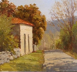 """The Italian Store"" by Kathleen Dunphy OPA 12x12"
