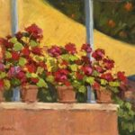 """Full Bloom at the Arizona Inn"" by Jane Barton, 8x10"