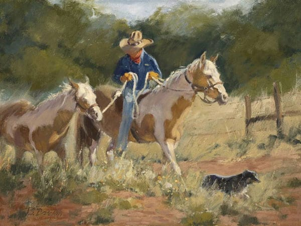 """Taking the Lead"" by Jane Barton 12x16"