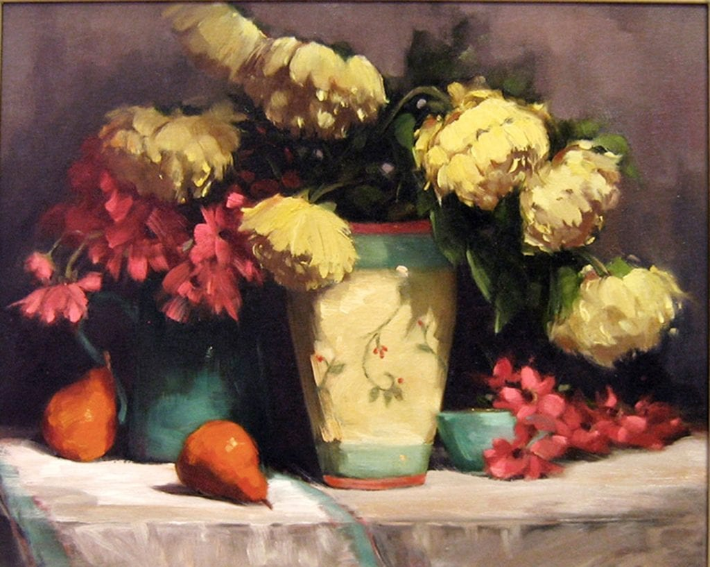 """Yellow Peonies"" by Dayle Sazonoff, 20 x 24"
