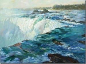 """Horseshoe Falls"" by Rick J. Delanty, 36x48"