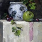 """Blue and White Ginger Jar"" by Christine Saper"