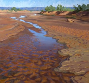 Brazos Clay,  oil on panel,  32 by 34 inches,  © 2012 Laura Lewis