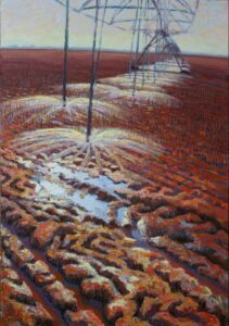 Winter Wheat, oil on panel, 34 by 24 inches,  © 2012 Laura Lewis