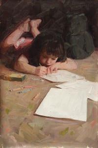 """Little Artist"" by Randolph Peay"