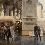 """Mercato Nuovo in Rain (Firenze) No. 2"" by James Crandall"