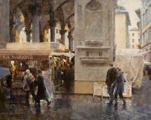 """""""Mercato Nuovo in Rain (Firenze) No. 2"""" by James Crandall"""