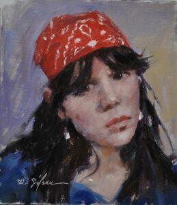"""Red Bandana"" by Hodges Soileau OPA, 6x6.75"