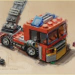 """Fire Engine"" by Diane Massey Dunbar OPA - 5x7"