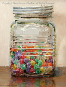 """Gumdrops"" by Diane Massey Dunbar OPA - 10x18"