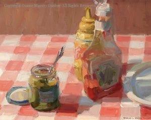 """""""Ketchup, Mustard and Relish"""" by Diane Massey Dunbar OPA - 11x14"""
