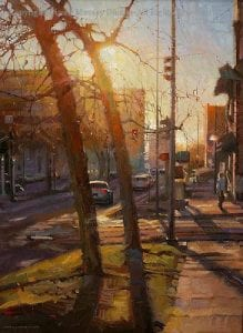 """Late Afternoon"" by Diane Massey Dunbar OPA - 24x18"