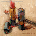 """Red"" by Diane Massey Dunbar OPA - 4x4 -Oil"