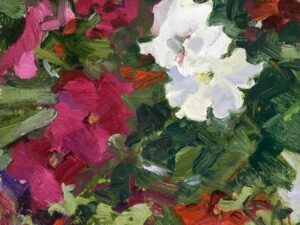 Petunias by Jane barton