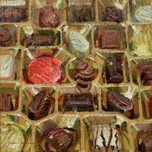 Chocolates – 8″x 8″ – Oil