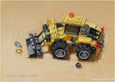 Yellow Digger – 5″x 7″ – Oil