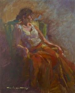 """Rachel"" by Rick J Delanty, 14 x 11"