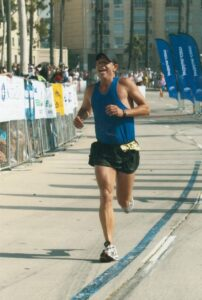 Rick Delanty at Finish Line of Long Beach Marathon - October 2007