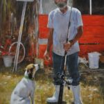 SoileauOPA-Hodges-Lula-Belle and the Preacher Fisherman-24x18 oil on linen