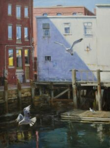SoileauOPA-Hodges-Old Port Gulls-24x18 oil on linen