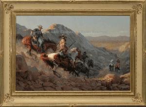 """Horse Thief - 24""""x 36"""" - Oil"""