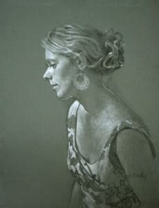 David Hardy – Carla (Study) – 25″x 19″ – Charcoal and chalk