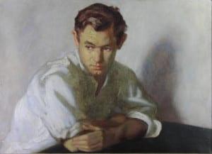 David Hardy – Guy in White Shirt – 20″x 28″ – Oil