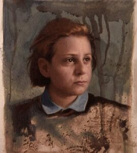 Michael John Angel – Anna (Study) – 4.72″x 3.94″ – Oil