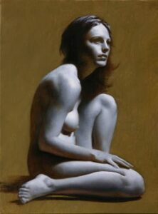 Michael John Angel – Grisaille:Nude #24 – 16″x 12″ – Oil