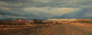 "Heading Into the Storm - 12""x 30"" - Oil"