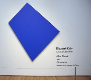 Blue Panel by Ellsworth Kelly