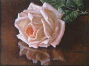 David Hardy – Fallen Rose with Reflection – 6″x 8″ – Oil
