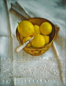 David Hardy – Lemons and Lace – 20″x 16″ – Oil