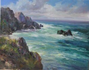 """Montaña De Oro Surf"" by Joyce Pike OPAM 24""x30"""