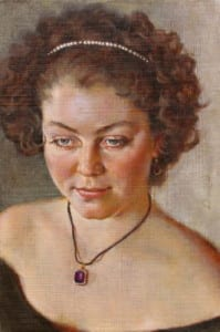 David Hardy – Portrait of Sarah – 15″x 10″ – Oil