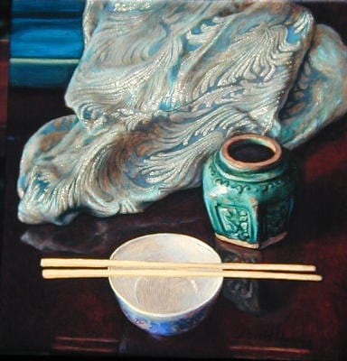 David Hardy – The Ginger Jar – 12″x 12″ – Oil