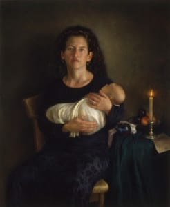 Juliette Aristides – Mother and Child – 48″x 36″ – Oil