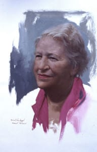 Michael John Angel – Margaret Graubard, New York – 12″x 8″ – Oil