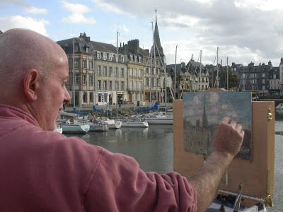 C.W. Mundy painting on location in France