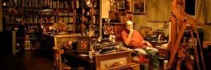 John Austin Hanna in his studio